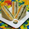Healthy & Appetizing Tricolor Sandwich