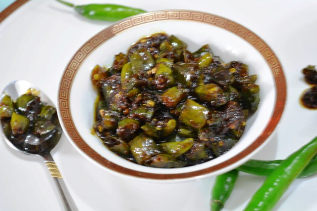 Sweet, Sour & Spicy Green Chili Pickle/How to make Khatta- meetha mirch ka achar