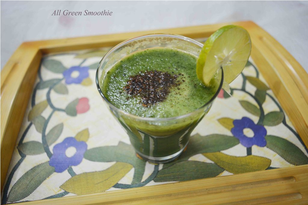 All Green Cucumber Mint Smoothie/ Detox smoothie