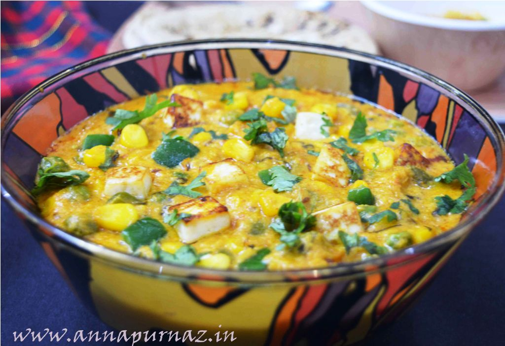 Restaurant Style Creamy Corn Masala Curry