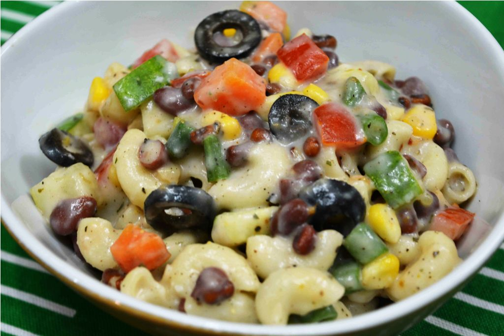 Easy Macaroni Salad With 3 Beans