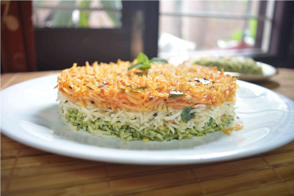 Image result for tricolor pulao pic,nari