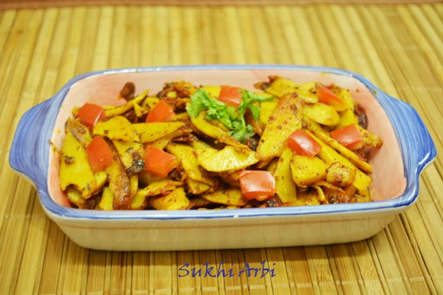 Sukhi Arbi / Arbi Stir Fried