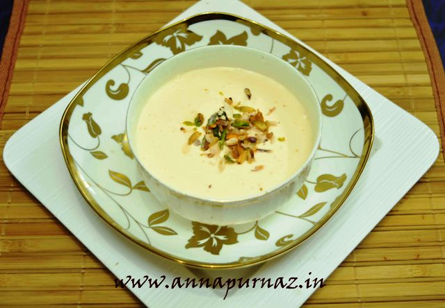 Zaffrani Srikhand / Kesar Elaichi Srikhand With Fresh Cottage Cheese