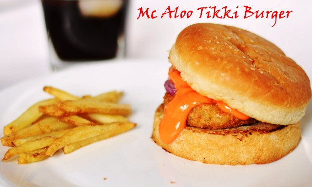 Mc Donald Style Aloo Tikki Burger/ How to make Mc Aloo Tikki Burger