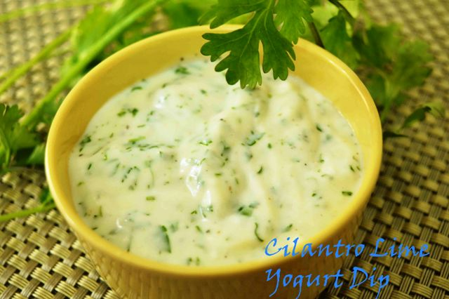 Cilantro Lime Yogurt Dip