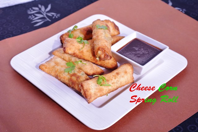cheese corn spring roll