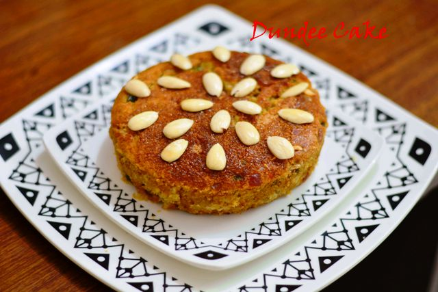 Dundee Cake From Scotland / Eggless Dundee Cake