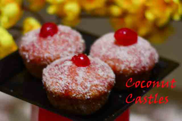 Coconut Castles – The English Madeleines /Eggless Coconut Castles