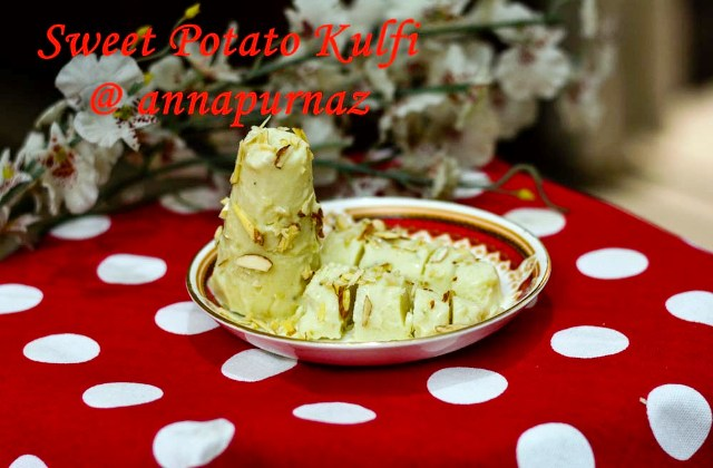 Sweet potato kulfi