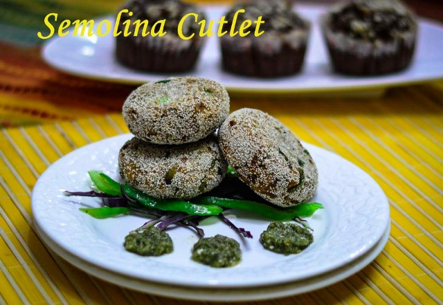 Semolina Cutlet / Sooji Aloo Cutlet Recipe