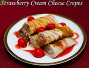Strawberry cream cheese Crepe