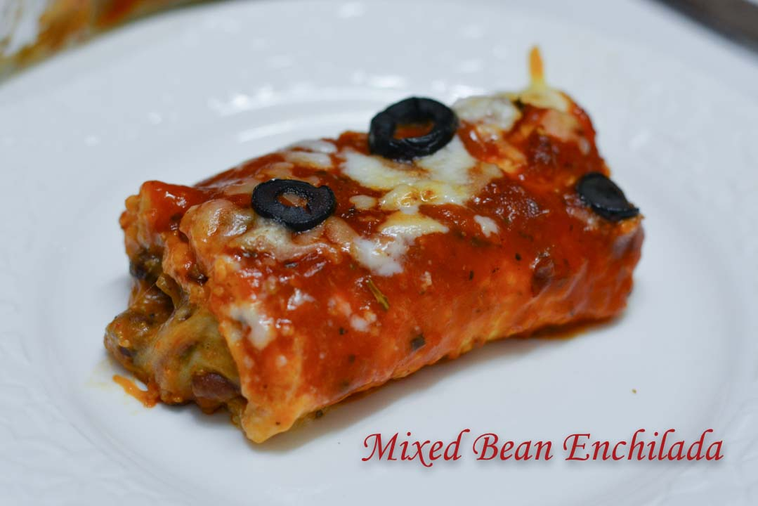 Mixed Bean Enchilada/ Hot & Spicy Mixed Bean Enchilada