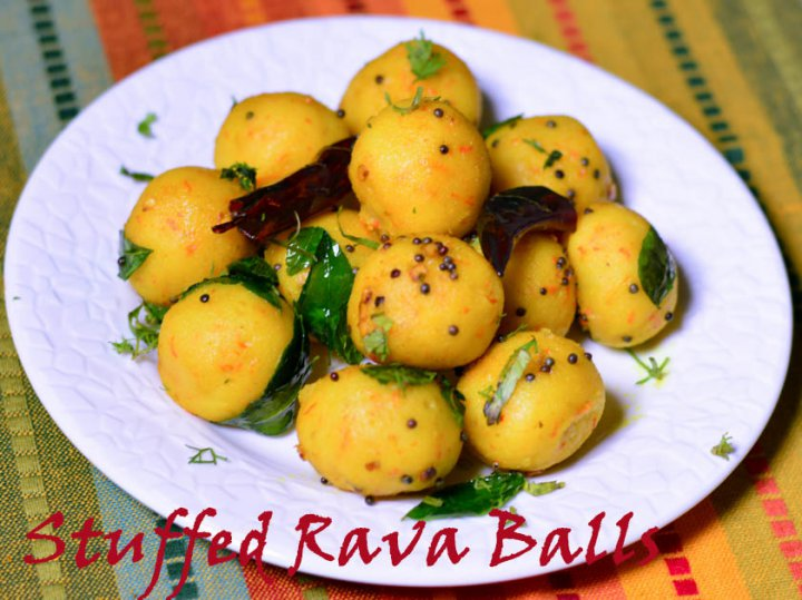 Stuffed Rava Balls/ How to make stuffed Rava Balls