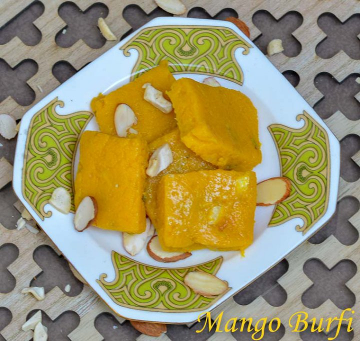 Mango Burfi Recipe/ How to make mango burfi