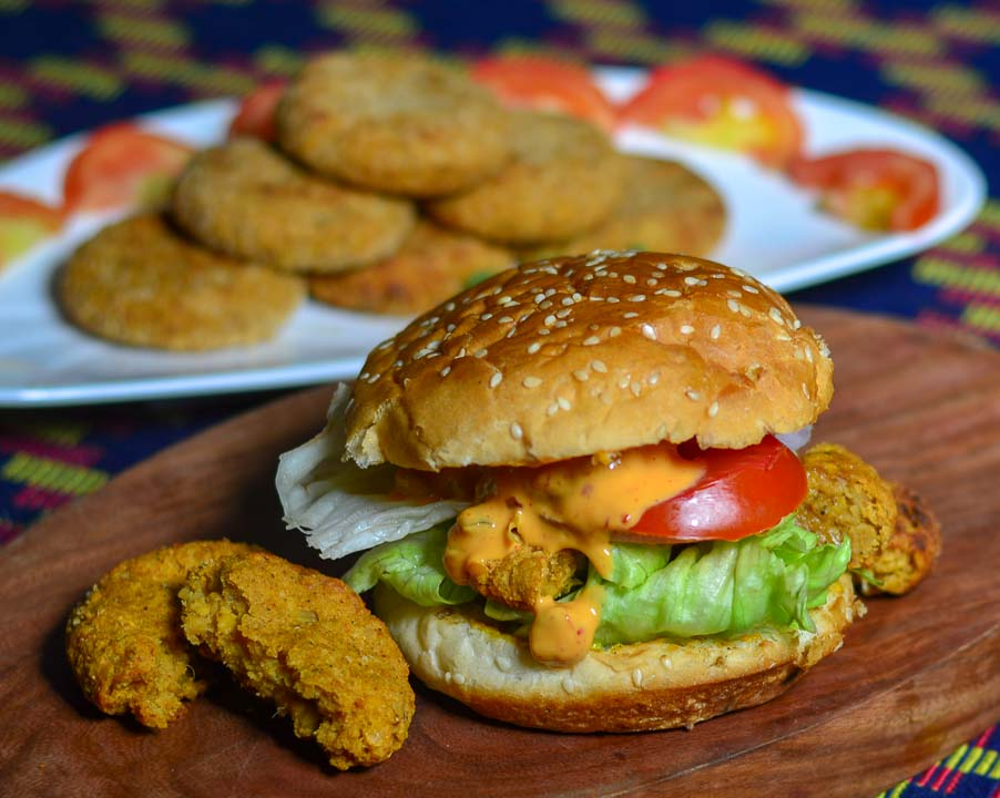 chana tikka burger