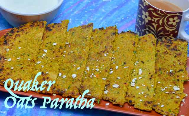 Quaker Oats Paratha/ Healthy & Spicy Multi Veg oats Paratha