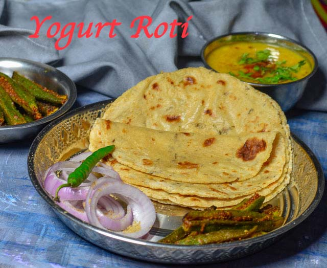 Yogurt Roti/ Soft & Spicy Yogurt Roti/ Dahi Wali Roti