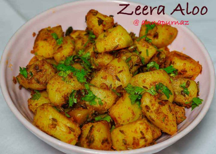 Jeera Aloo Recipe/ How to make Cumin Potato Stir Fry
