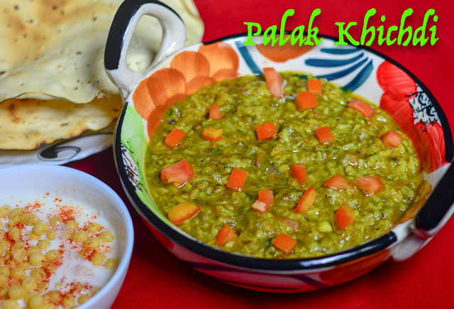 Healthy Palak Khichdi/ How to make nutritious Palak Khichdi
