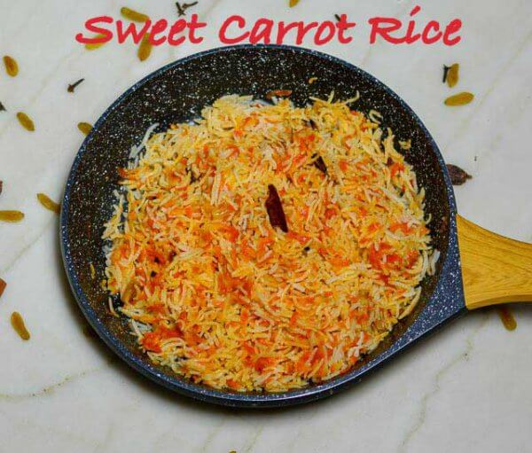sweet carrot rice