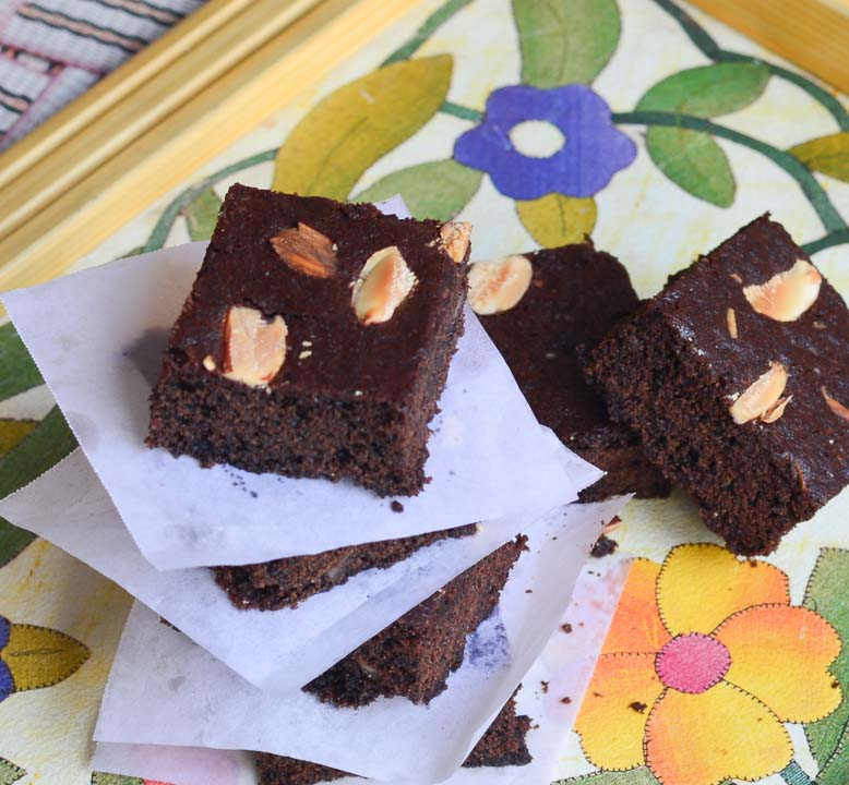 Whole Wheat almond brownie