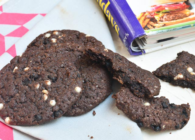 triple chocolate spiced cookie