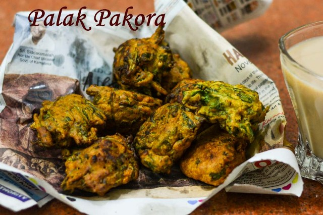 Palak Pakora / How to make crisp spinach fritters