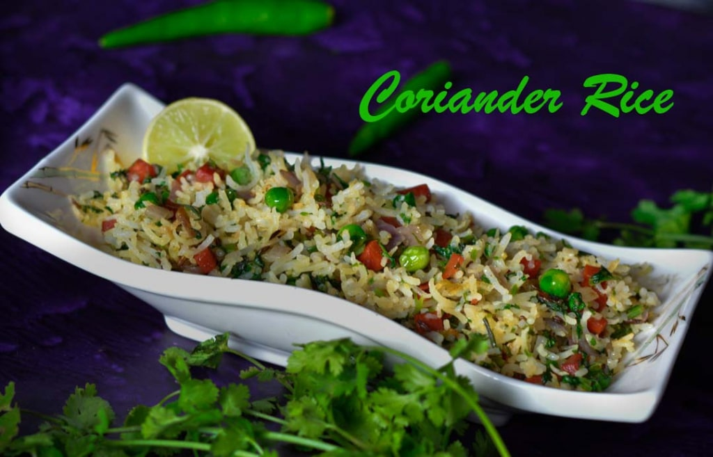 Coriander Rice From Leftover Rice/ Coriander Fried Rice